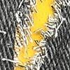 ג'ינס שחור + צהוב מוברש