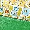 ירוק מוברש + פרחים צבעוניים