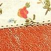 קרמל מוברש + בז' פרחים