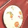 בורדו מוברש + רק הכפתור בז' פרחים