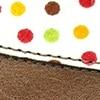 שוקולד מוברש + נקודות צבעוניות