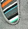 אפור מלוכלך + פסים צבעוניים