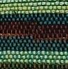 פסים אתניים ירוק